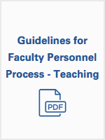 Guidelines for Faculty Personnel Process - Teaching
