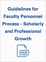 Guidelines for Professional Process - Scholarly and Professional Growth