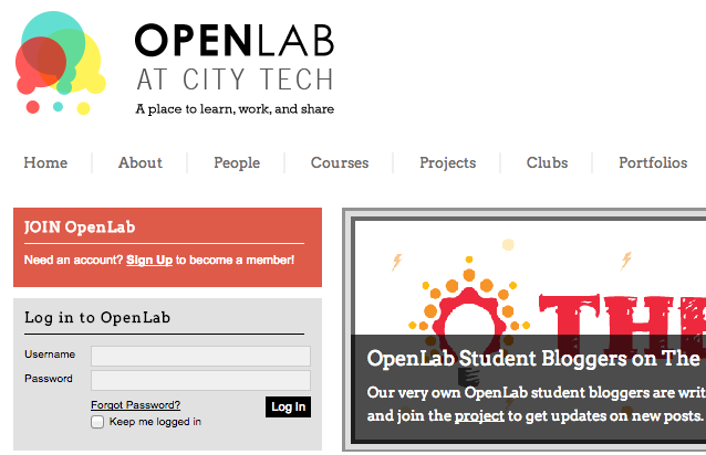How to Create an ePortfolio Site on the OpenLab 1