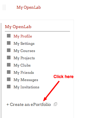 How to Create an ePortfolio Site on the OpenLab 3