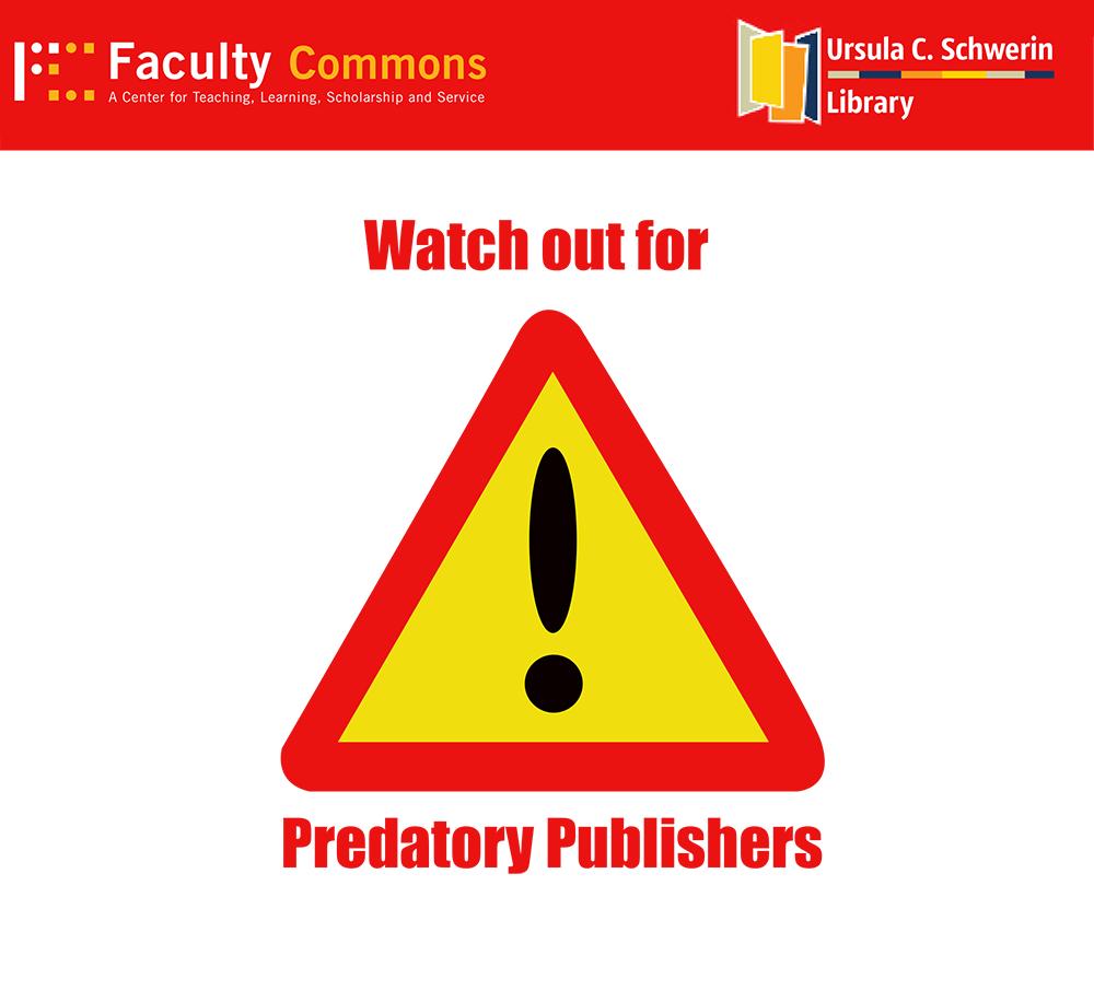 Library: Avoiding Predatory Publishing 1