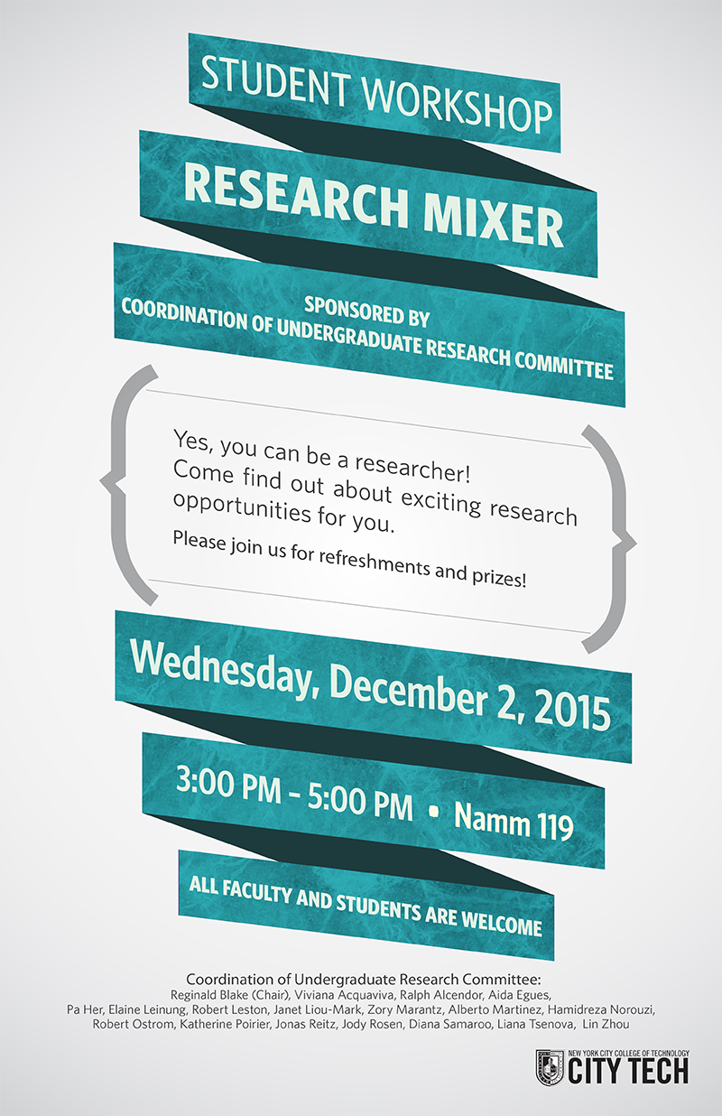 Undergraduate Research Coordination Committee presents Semi-Annual Research Mixer 1