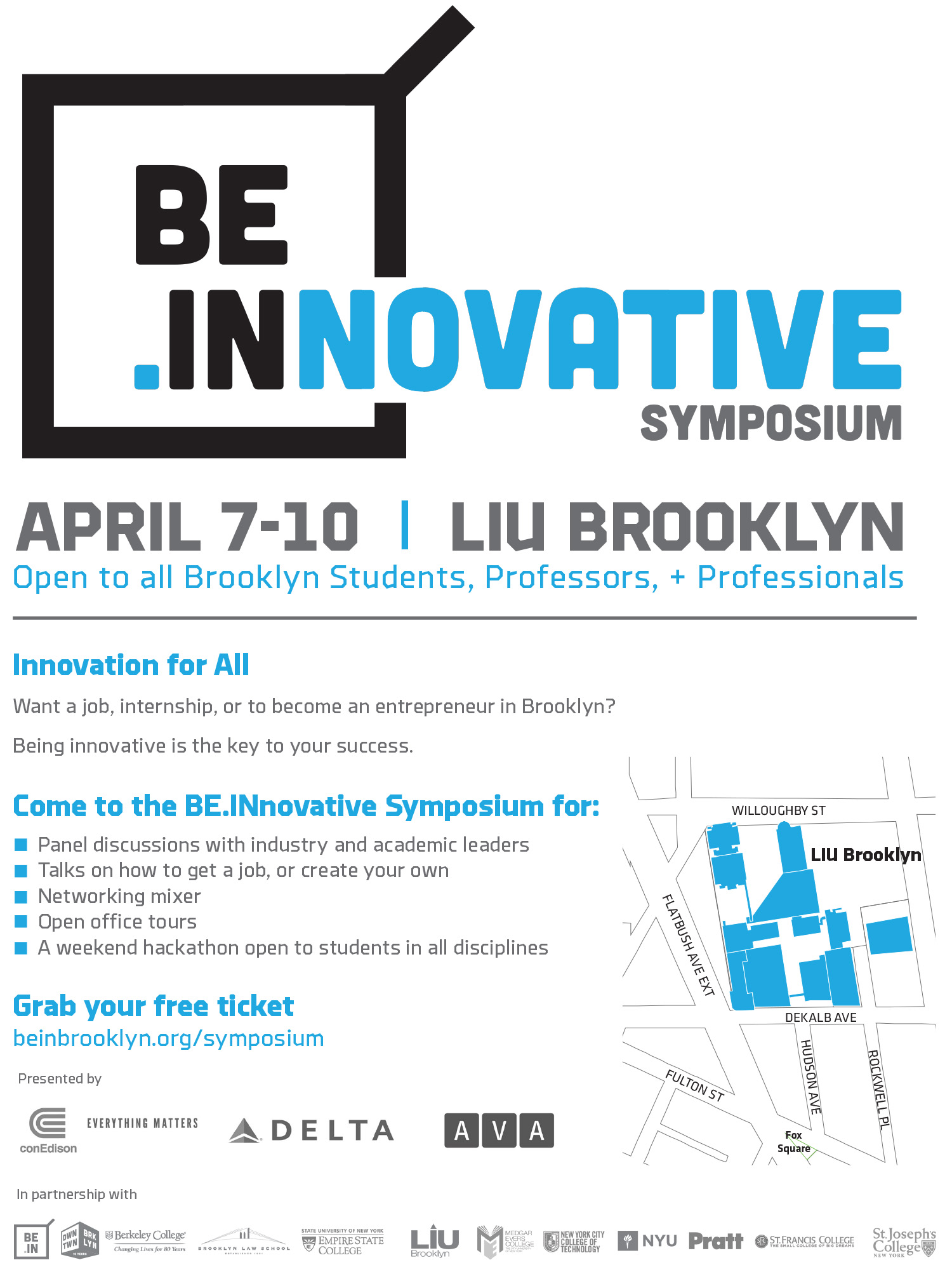 BEINNOVATIVE Symposium Flyer - with school logos
