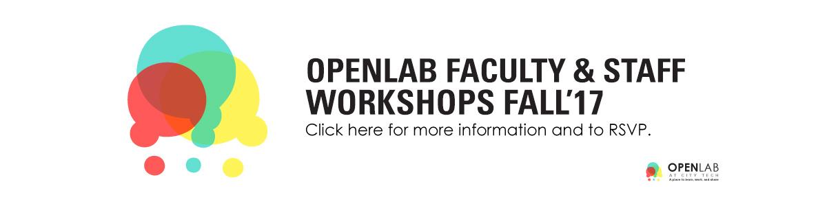 OpenLab Fall 2017 Workshops
