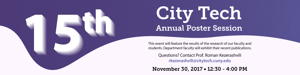 15th Annual City Tech Poster Session