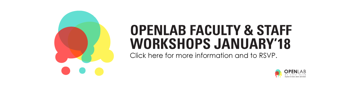 OpenLab January 2018 Workshops