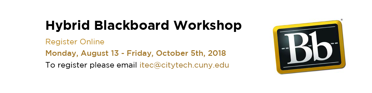 Blackboard Hybrid Workshops