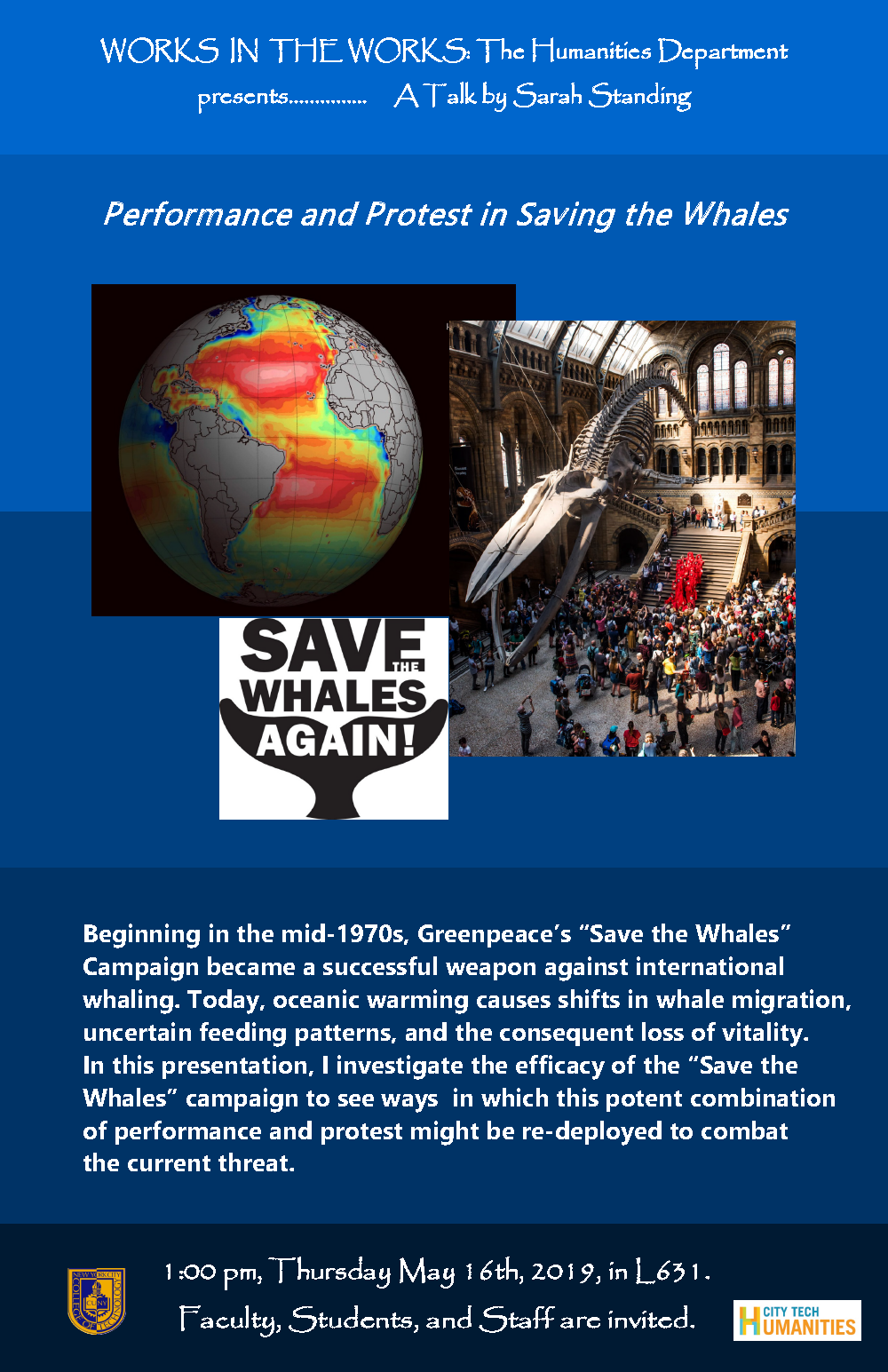 Performance and Protest in Saving the Whales: A Talk by Sarah Standing 1