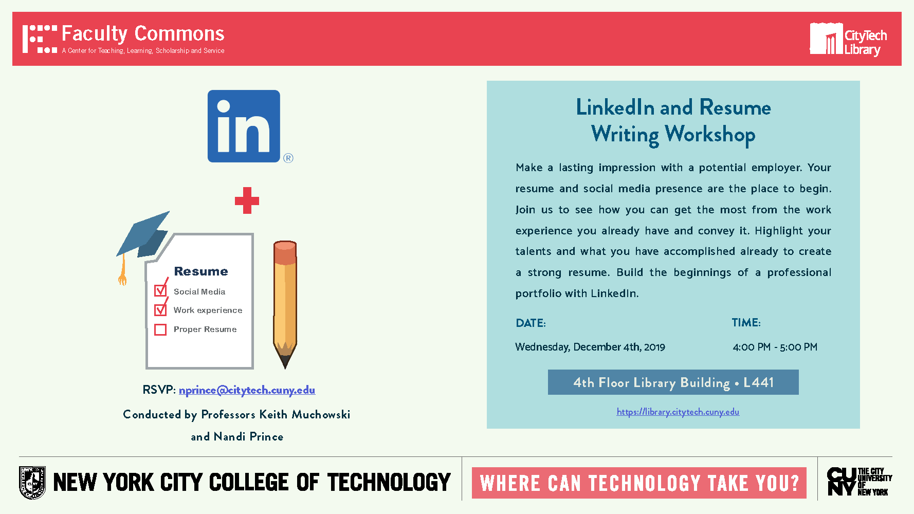 LinkedIn and Resume Writing Workshop 1